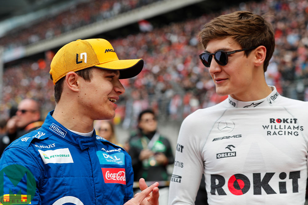 Lando Norris and George Russell, 2019 Chinese F1 Grand Prix