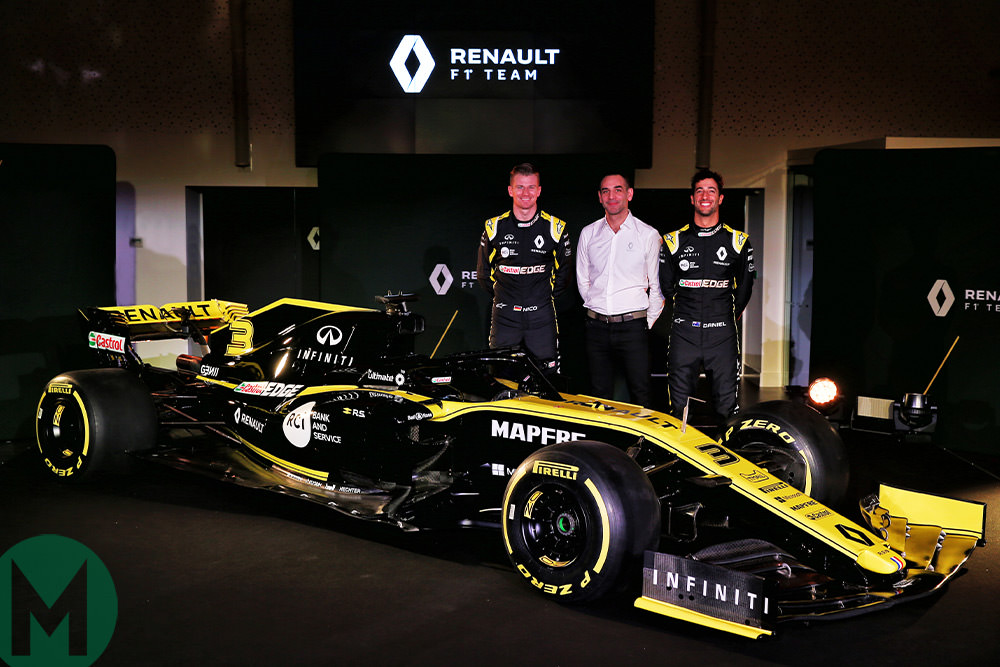 Renault RS19 F1 car launch
