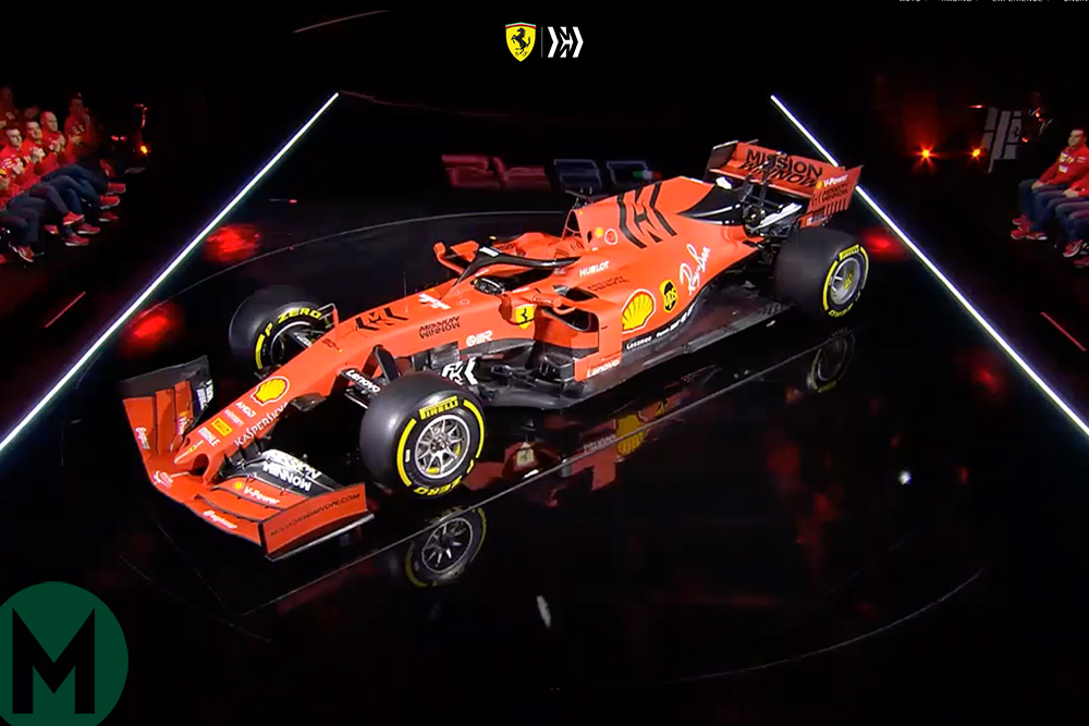 Ferrari launches 2019 SF90 F1 car
