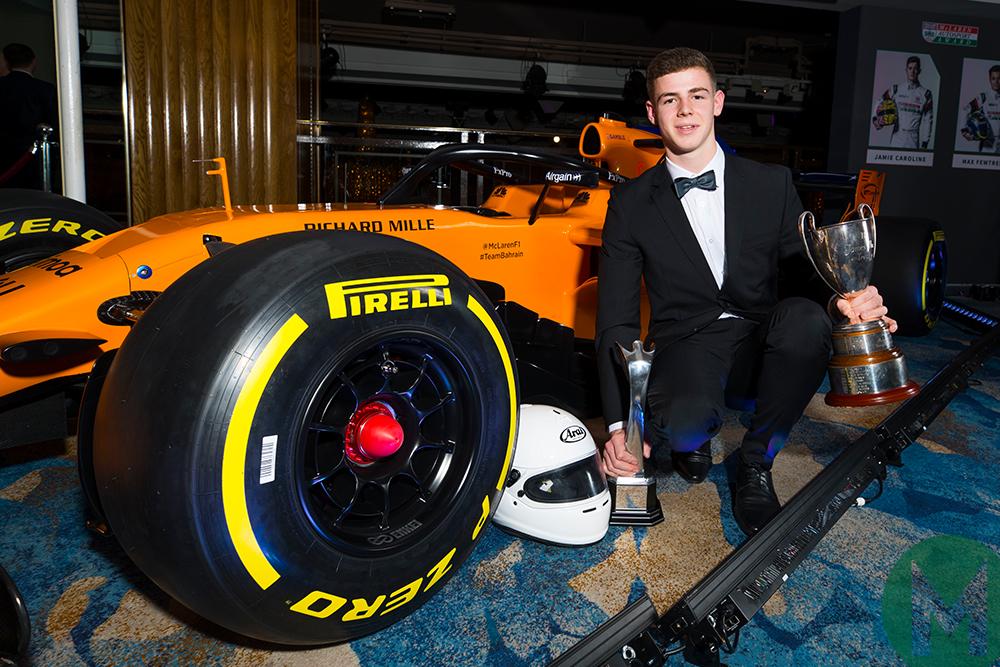 Tom Gamble receives the 2018 McLaren Autosport Award
