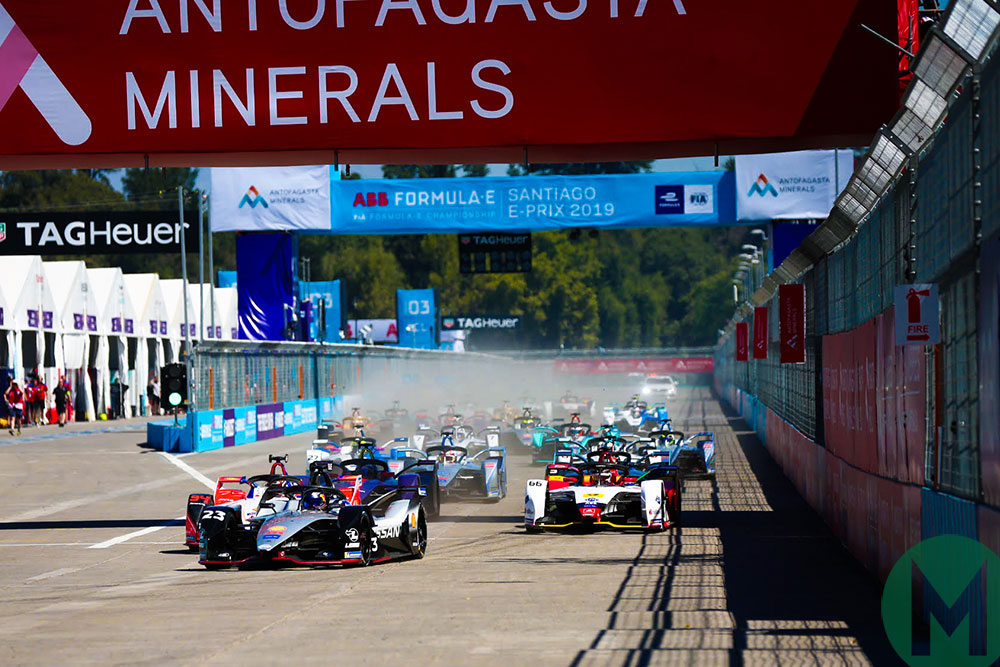 The start of the 2019 Santiago ePrix