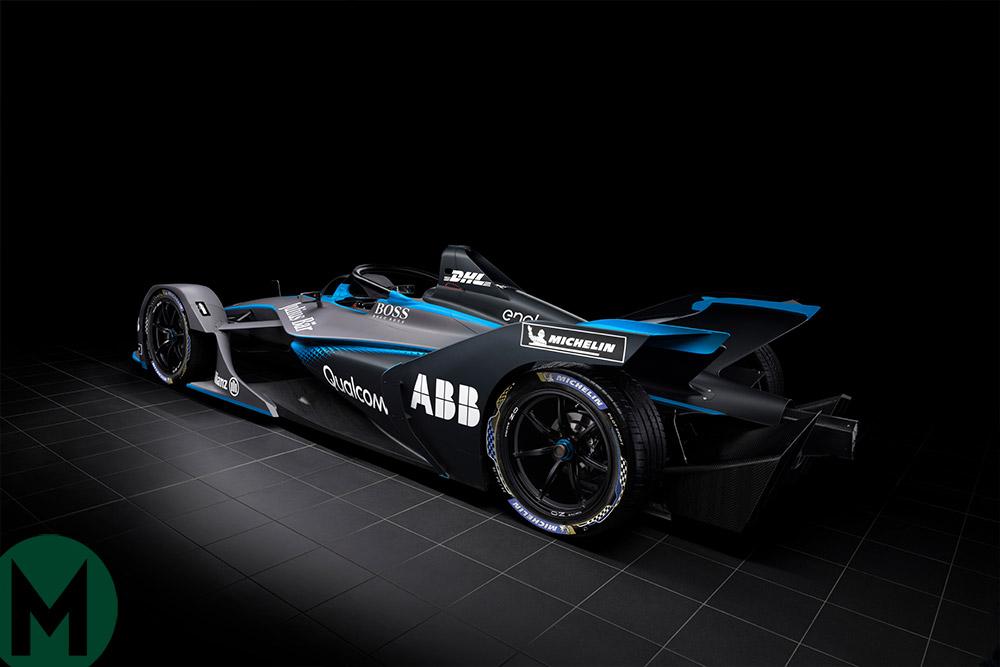 Gen2 Formula E car, rear 3 quarters