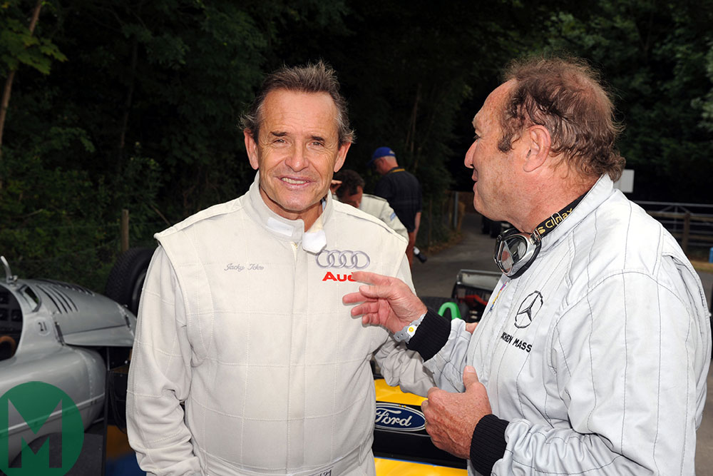 Jacky Ickx and Jochen Mass at the 2009 Goodwood Festival of Speed