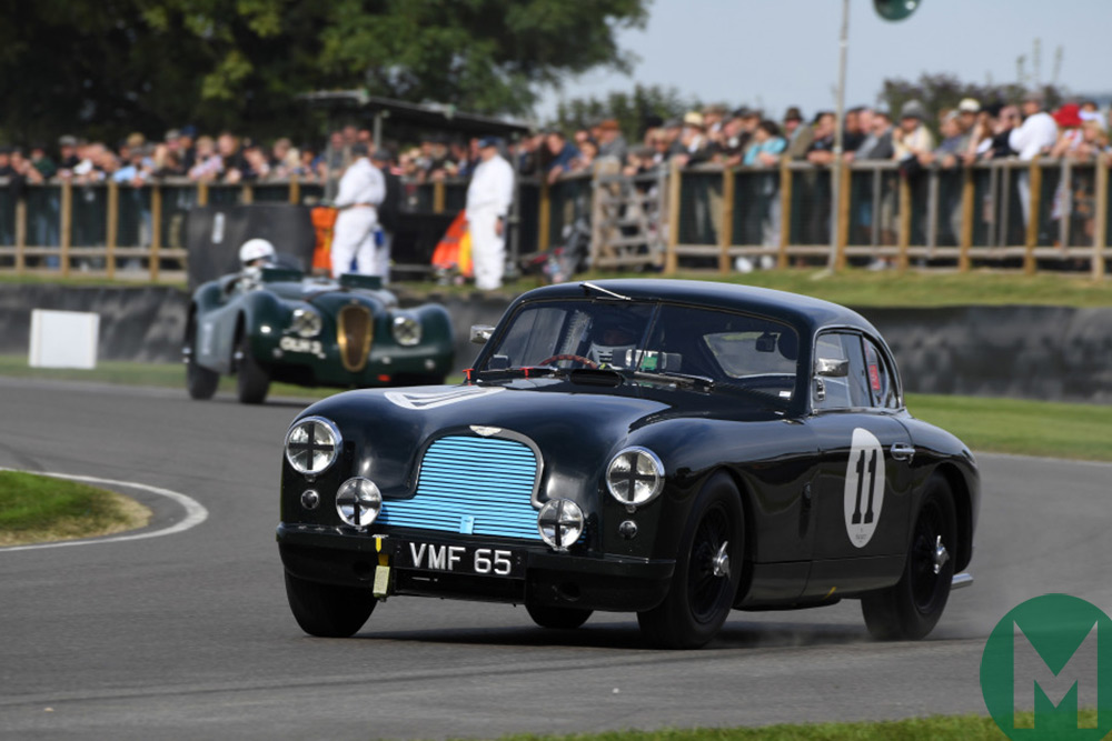 Darren Turner driving the Aston Martin at Goodwood