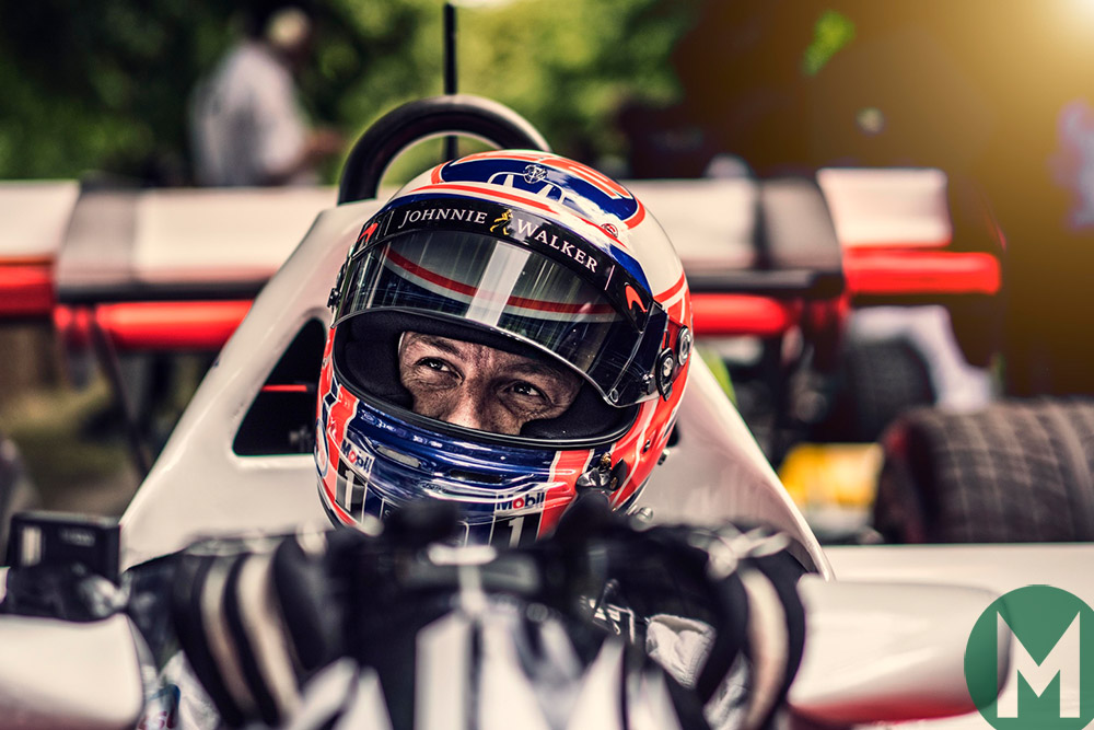 Jenson Button at the 2017 Goodwood Festival of Speed
