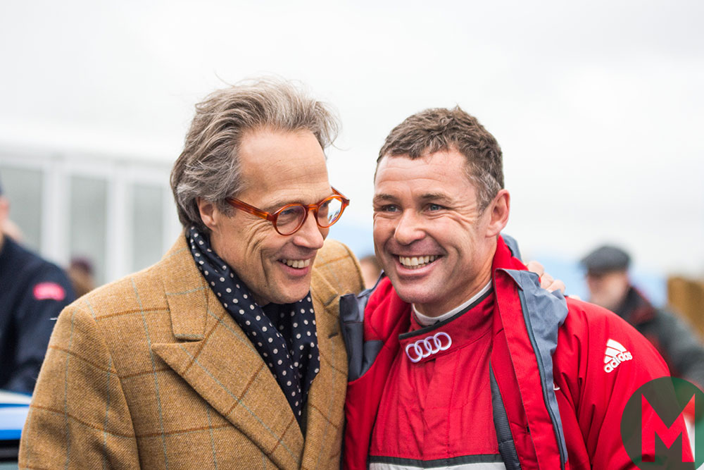Tom Kristensen and the Duke of Richmond at Goodwood