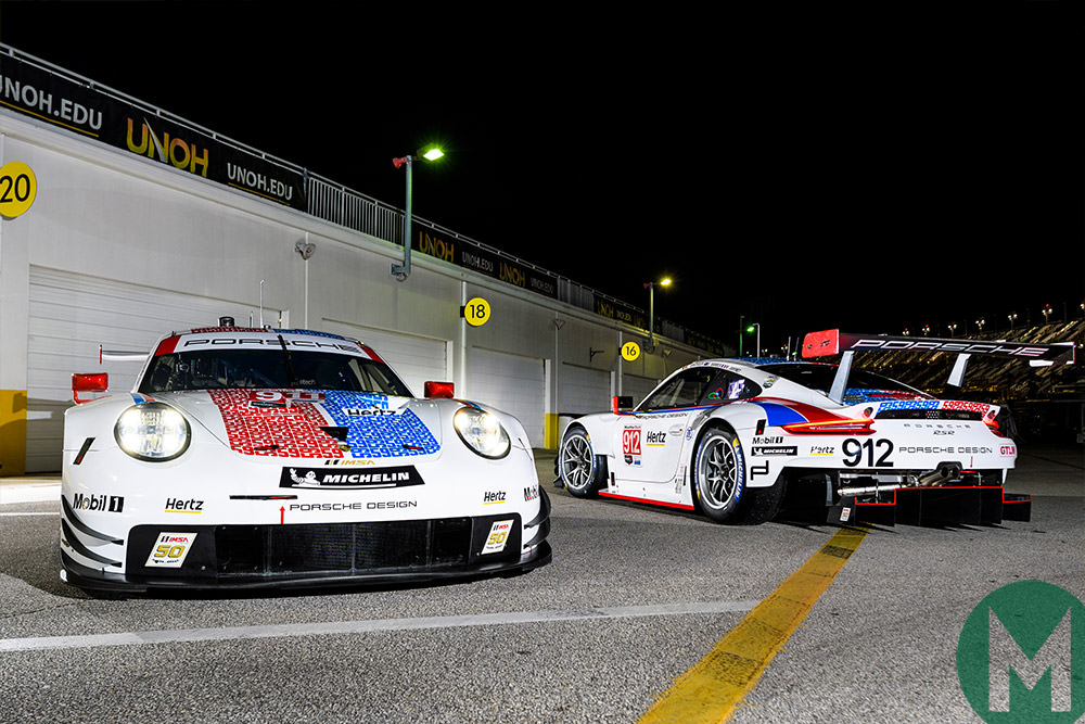 Porsches in Brumos Racing colours for Daytona 24 Hours unveiled