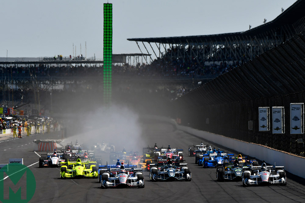 The start of the 2017 Indy 500