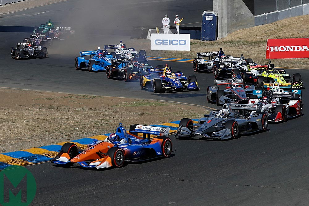 IndyCar Sonoma start