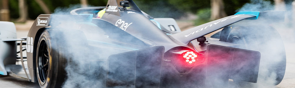 Saudi Formula E Car 2018 smoke