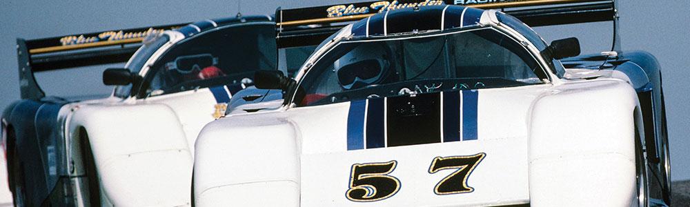 IMSA cars white blue 57