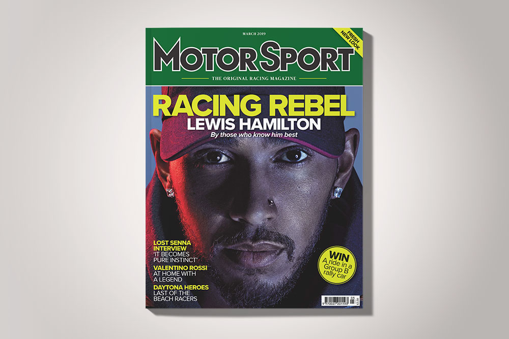 Motor sport magazine march 2019 relaunch issue lewis hamilton tommy hilfiger shoot