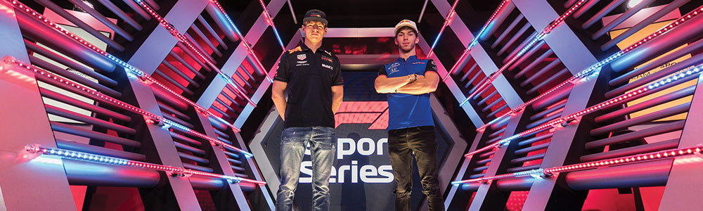Esports racing tournament with Max Verstappen and Pierre Gasley