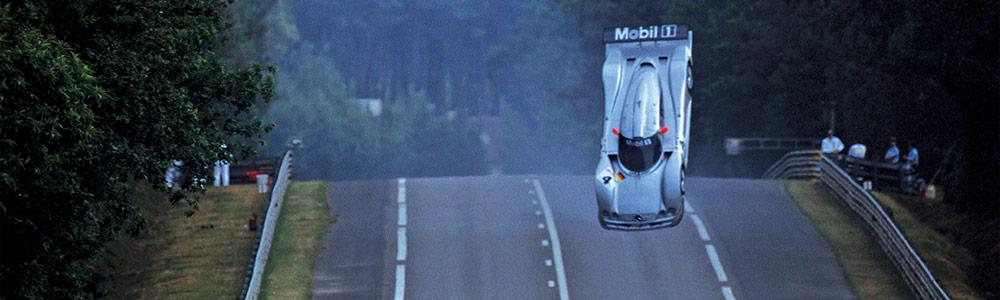 Mercedes mid air Circuit Sarth Le Mans