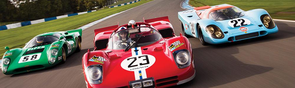 Dario Franchitti porsche 917K Ferrari 570S Lola T70