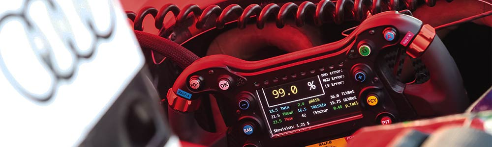 Audi Formula E steering wheel