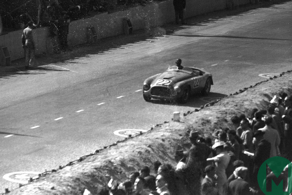 Luigi Chinetti in a Ferrari 166MM on the way to victory in the 1949 Le Mans