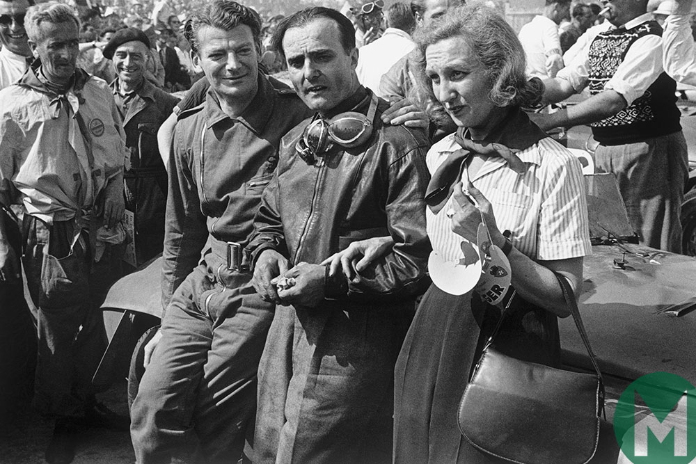Luigi Chinetti and Lord Selsdon at the 1949 Le Mans