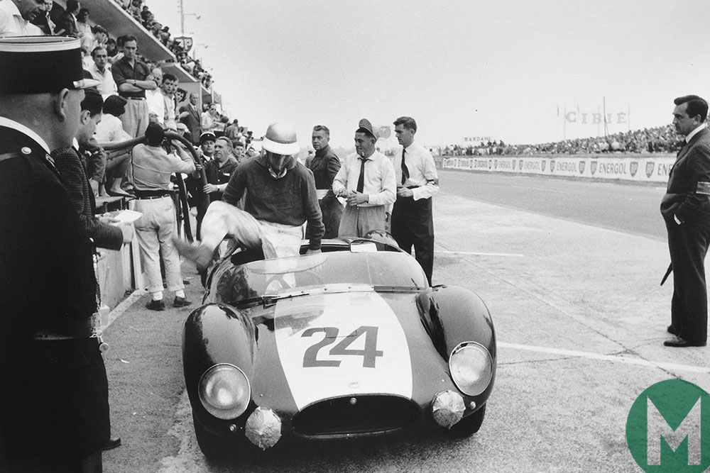 Jim Russell and Bruce McLaren in the 1959 Le Mans in a Cooper T49 Monaco