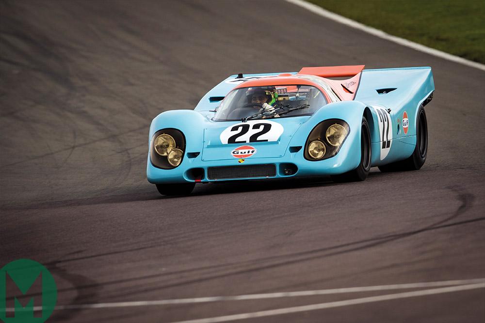 Porsche 917K track test Dario Franchitti