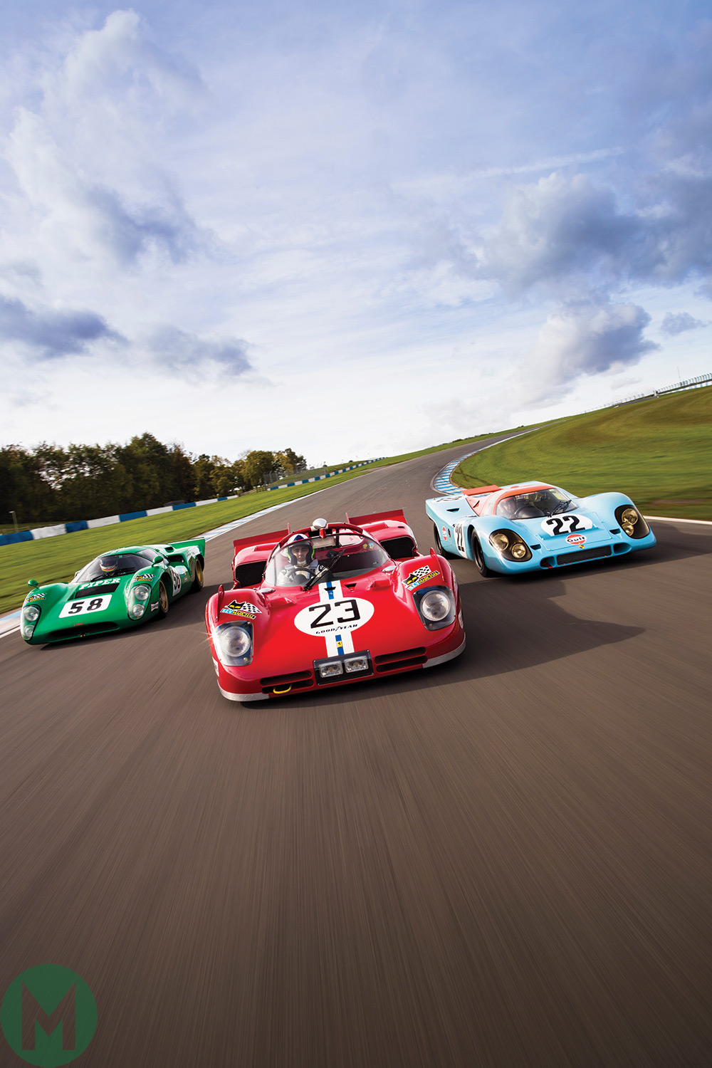 Porsche 917, Ferrari 512, Lola T70 driven by Dario Franchitti