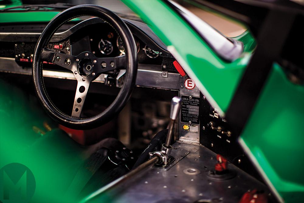 Lola T70 cockpit