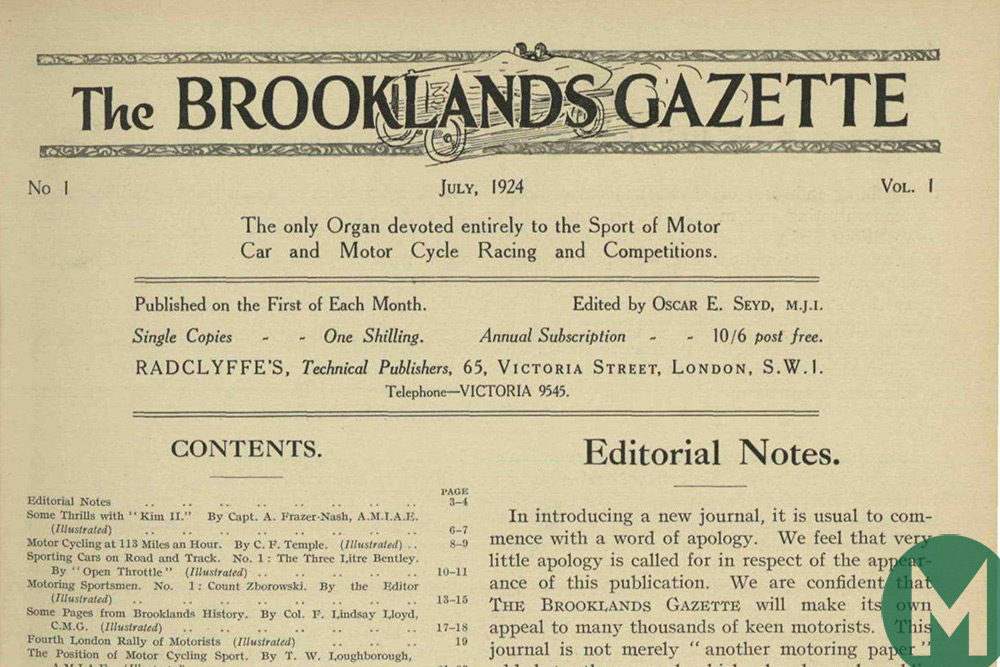 The first edition of Motor Sport