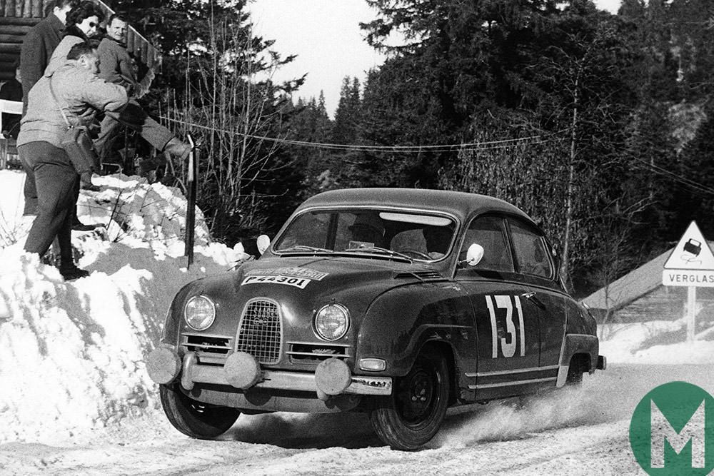 Image result for 1961 Saab 93 ice racing
