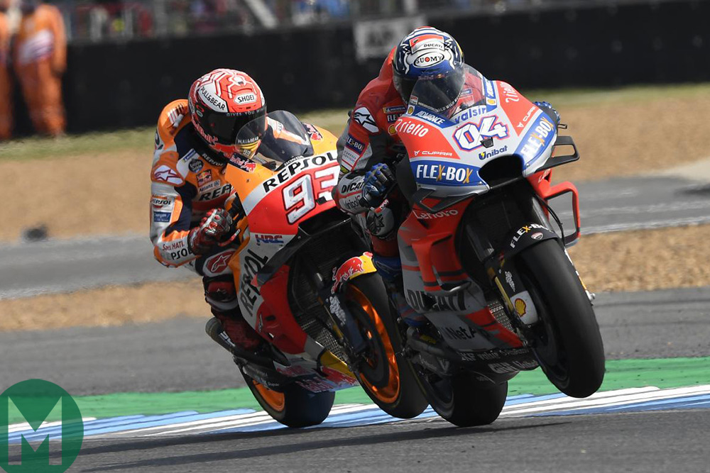 2018 Marquez and Dovizioso Thailand