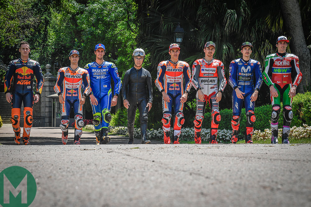 Salvador Canellas with the MotoGP riders at Catalunya 2018