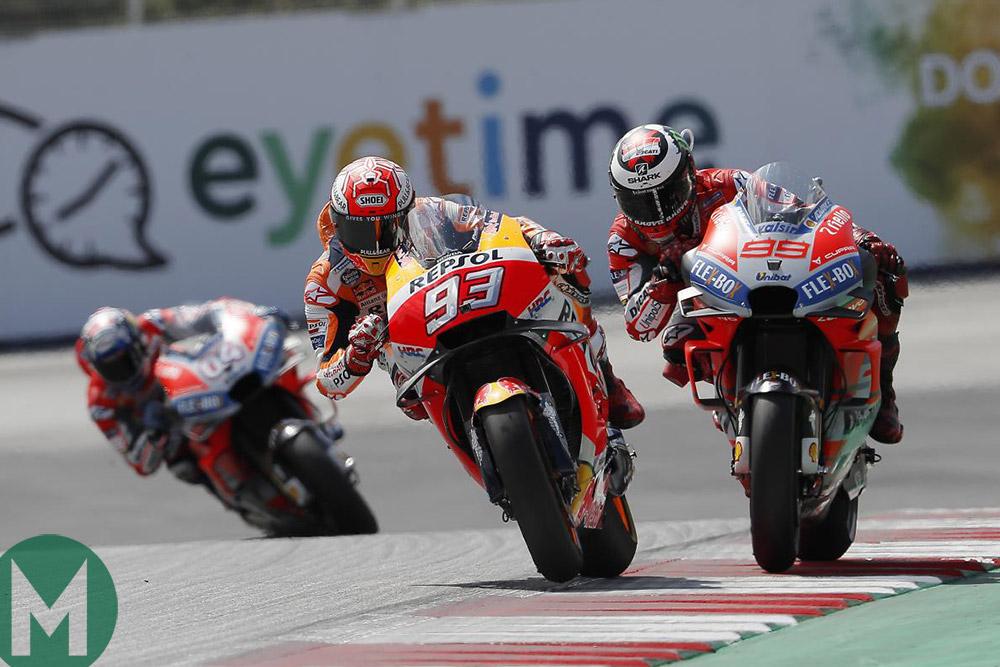 Austria MotoGP Marquez Ducatis