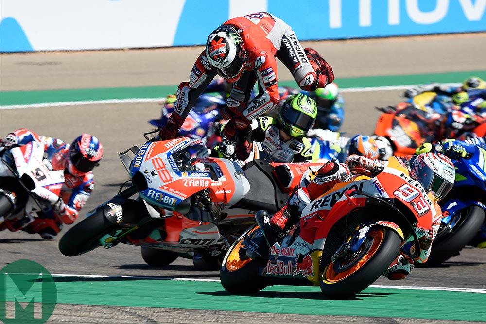 Lorenzo crash Aragon MotoGP 2018