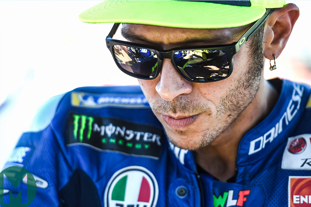 Rossi, having complained about his Yamaha at Aragon