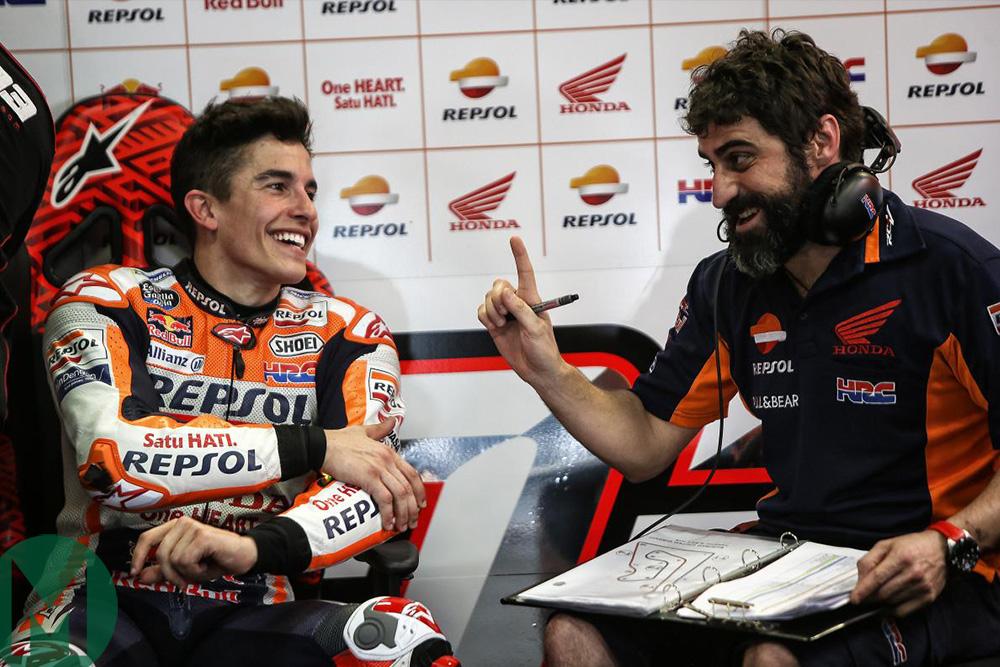 Santi Hernandez and Marc Marquez, Buriram MotoGP 2018