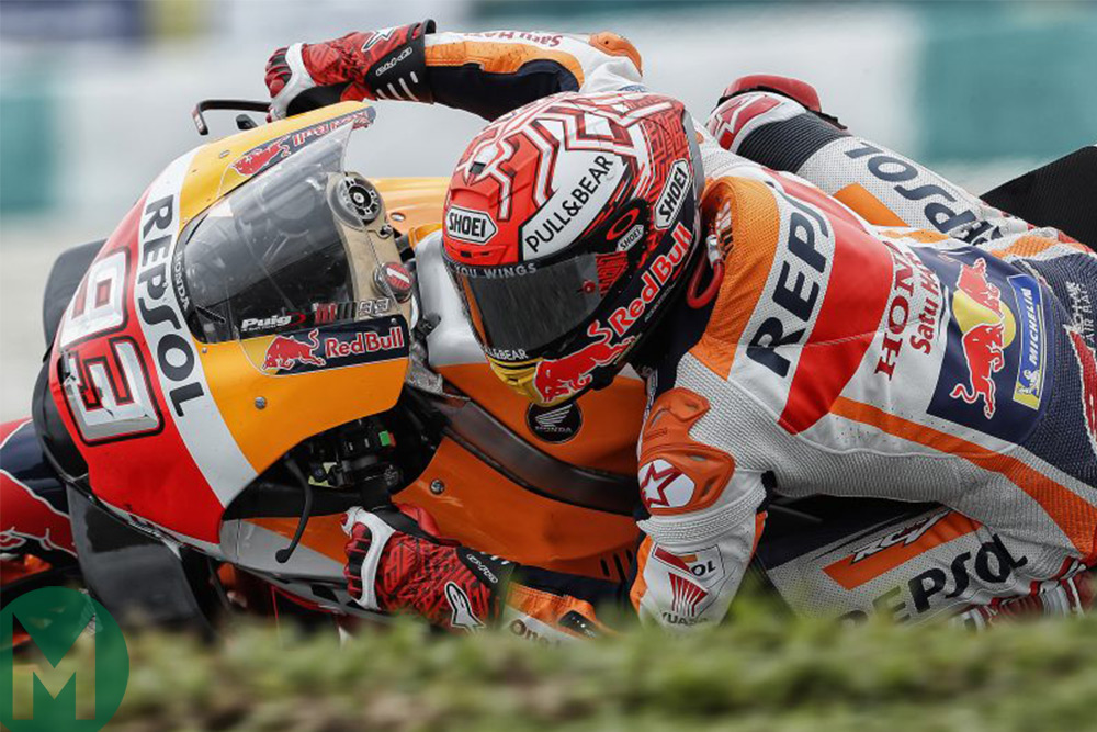 a9f862116b9 Could Márquez have saved that slide  Did Valentino Rossi ...