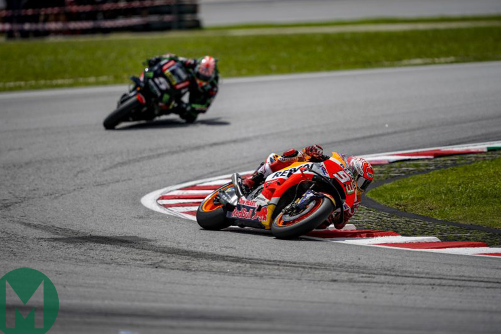 Marquez leads Zarco at Sepang