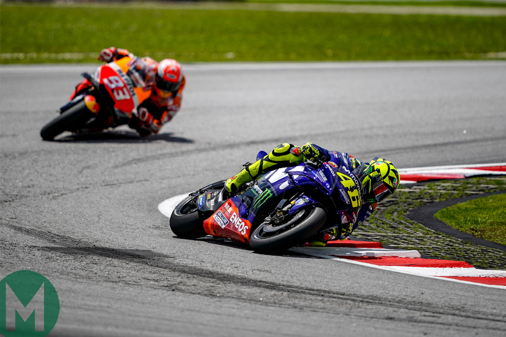 Rossi leads Márquez at Sepang