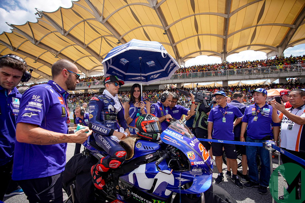 Vinales on the Sepang MotoGP grid