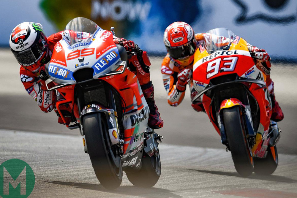 Márquez and Lorenzo Valencia