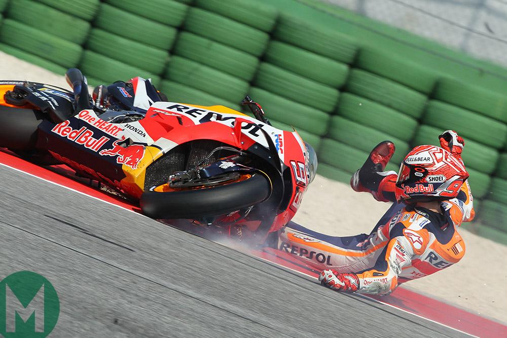 Marquez Misano crash Q2 2018