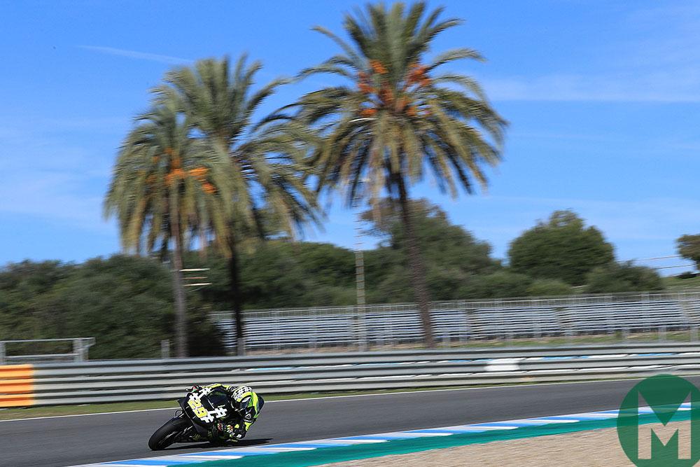 Andrea Iannone tests the Aprilia at Jerez