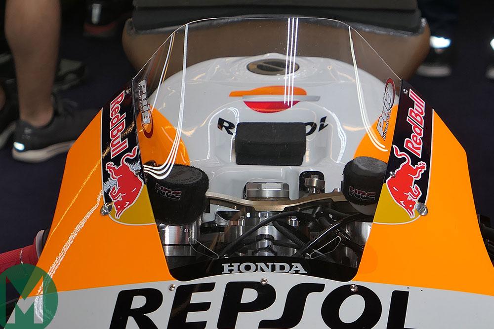 Honda 2019 MotoGP bike upper triple clamps