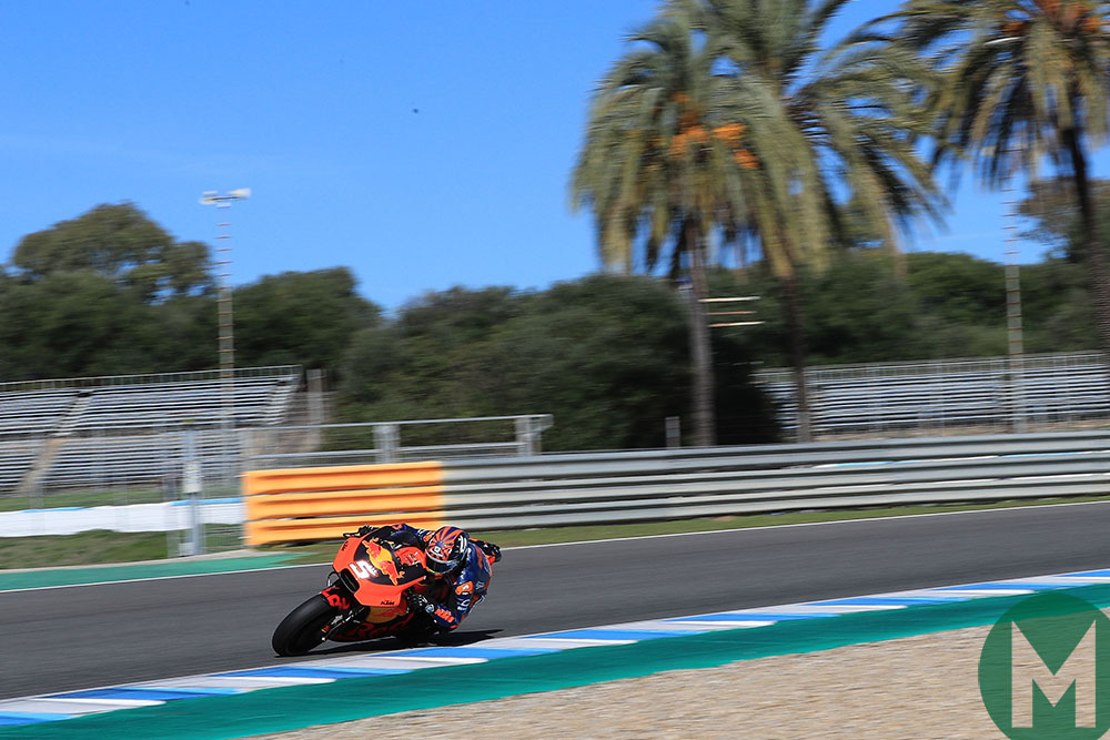 Johann Zarco on the KTM in Jerez 2018 November testing