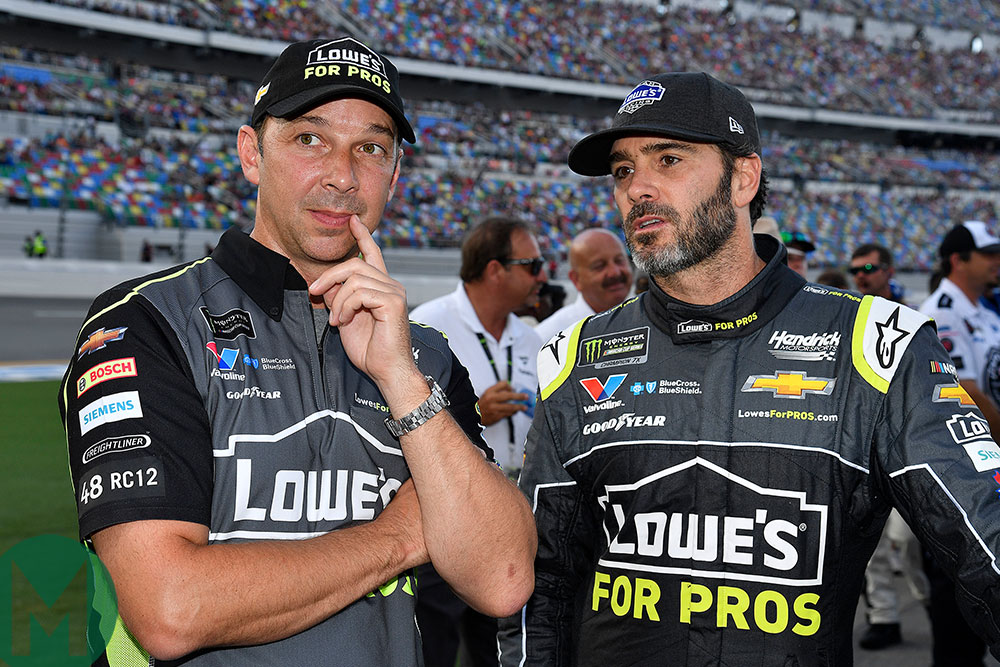Jimmie Johnson and crew chief Chad Knaus, 2018