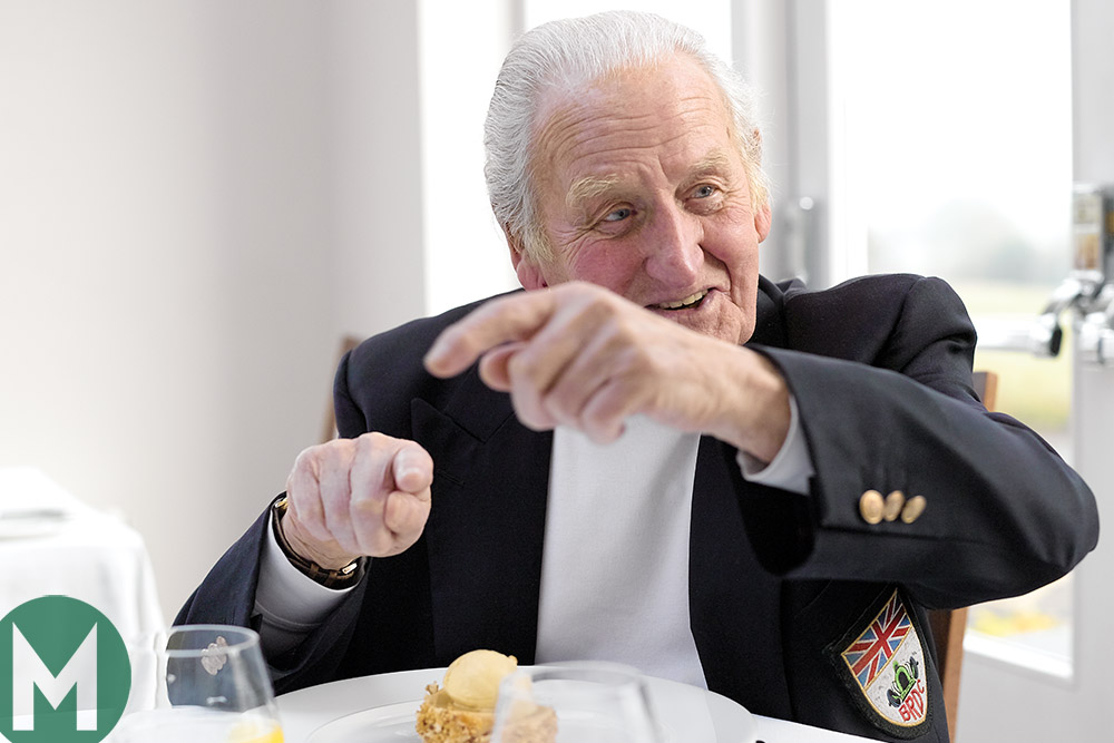 Norman Dewis at lunch with Motor Sport