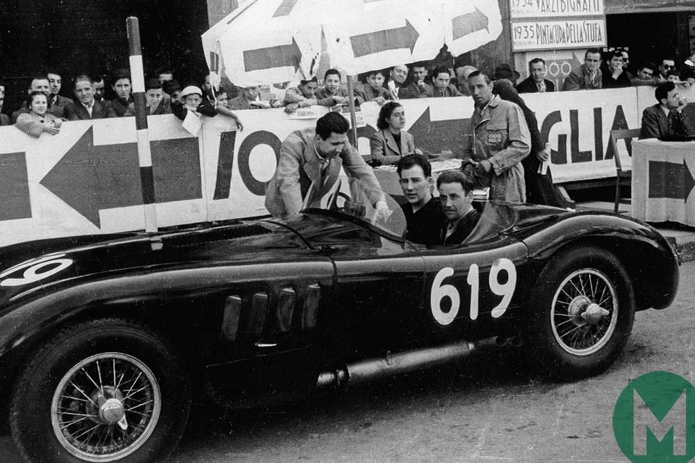 Norman Dewis and Stirling Moss at the Mille Miglia