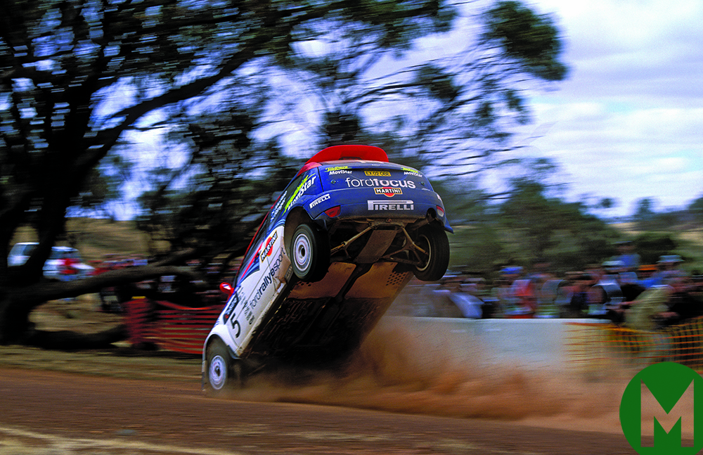Colin McRae noses the ground in 2005