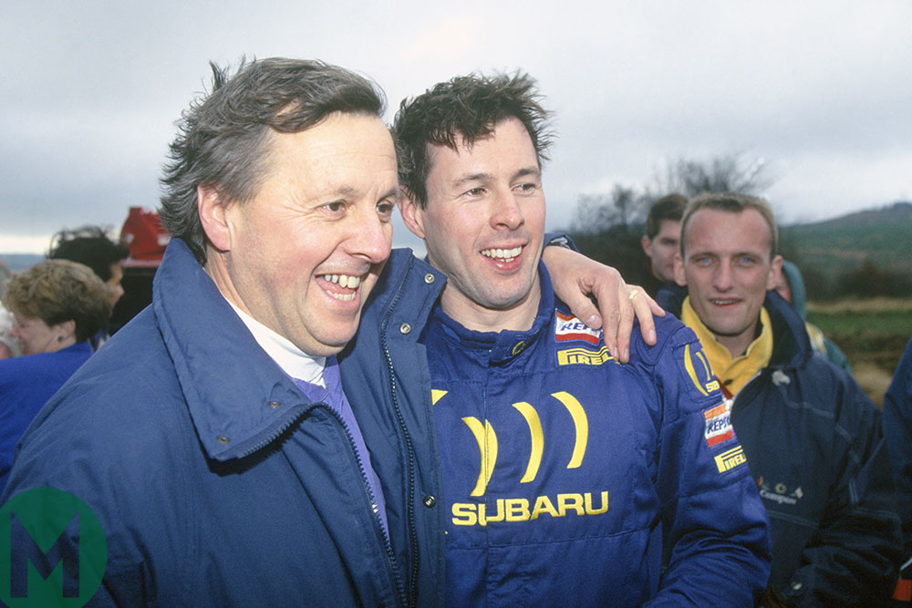 Jimmy and Colin McRae at the 1994 RAC Rally