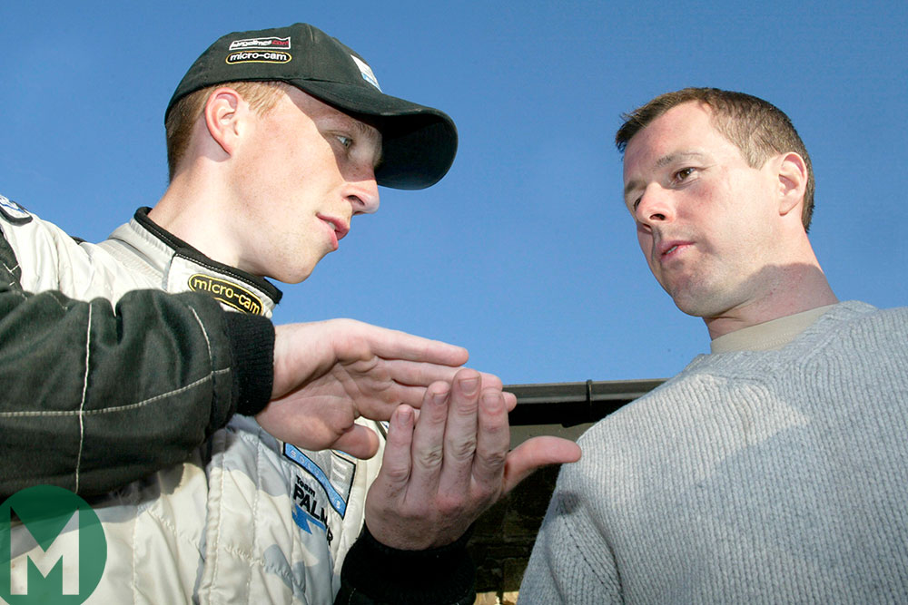 Kris Meeke and Colin McRae at the 2004 Rally of Wales
