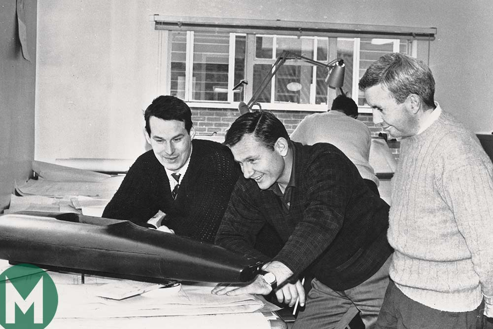 Robin Herd with Bruce McLaren and Teddy Mayer
